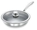 Prestige Tri Ply Honeycomb Fry Pan with Lid