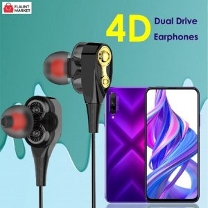 NEW 4D STEREO SPORTS DUAL DRIVE IN-EAR HEADSET BASS EARPHONES FOR ALL SMART PHONES