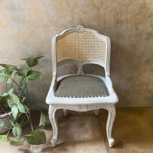 Carved Wood Cane Chair