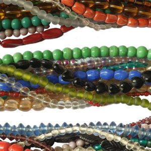 """10 Strands Randomly Each 15~16"""" Line Glass Beads Mix strands mixed colors 4-12mm mixed shape."""