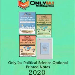 Only Ias - Political Science Optional - Printed Notes 2020 - English Medium