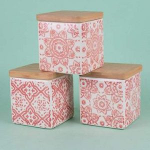 Amore Canisters Set of 3